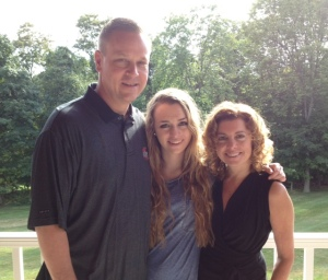 Gary with his daughter, Christy and his wife.