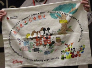 The Pillowcase Project, presented by the Red Cross and the Walt Disney Company, teaches students grades 3-5 about emergency preparedness.