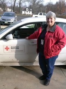 Bunny Perren volunteers as a driver for the Transportation Program with the Summit and Portage Counties Chapter.