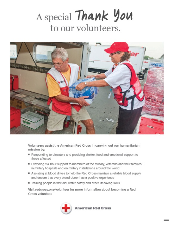 Thank you to the more than 90% of our workforce who volunteer their time and talents to fulfill our mission in their community.