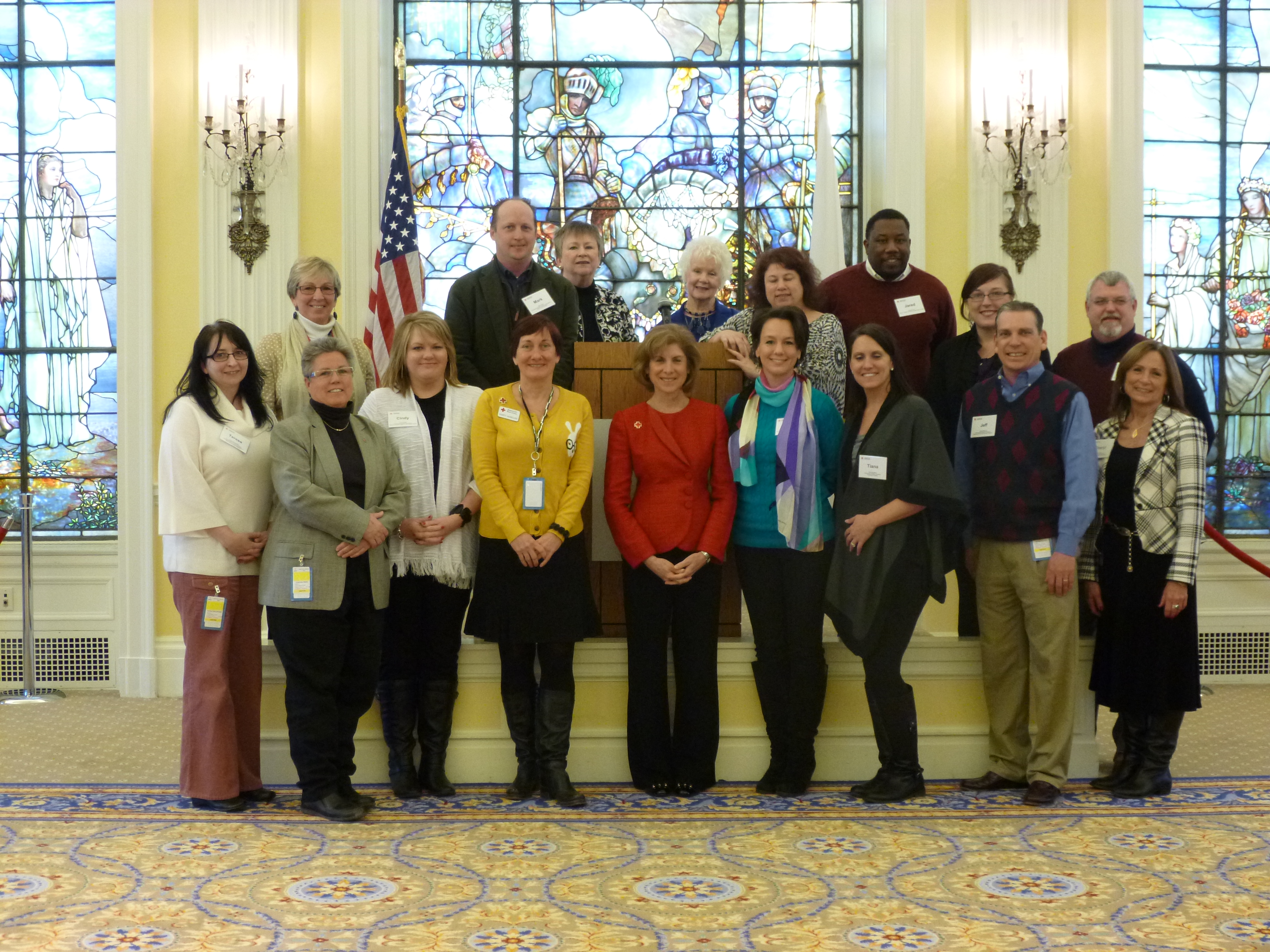 Group Picture with Gail McGovern