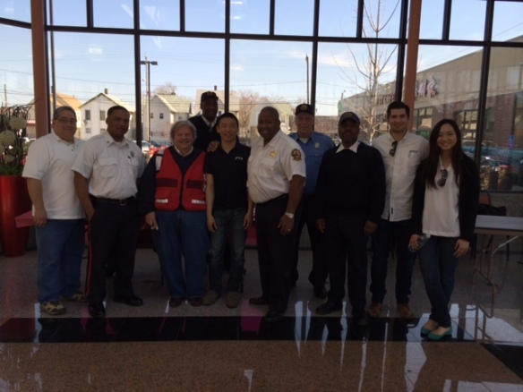 Cleveland Fire, TCP Volunteers and Red Cross Volunteers presented Fire Safety Program at Asia Plaza on April 12.