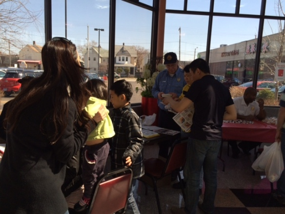 Bilingual presenters were on hand to speak about fire safety in both Chinese and English at Saturday's event.