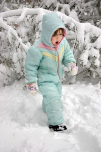 Wear layers of lightweight clothing to stay warm. Gloves and a hat will help prevent losing body heat.