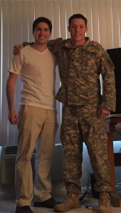 The author Joe Traylor and his friend, Cadet James Pooler.