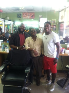 My father, his bestfriend from Cap-Haitien, and I