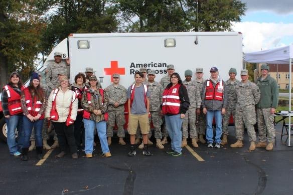 Red Cross and OANG Volunteers in Lorain