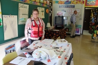 Red Cross volunteer Alice Martinez