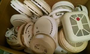 Discarded Smoke Alarms Photo credit: Jim McIntyre, American Red Cross