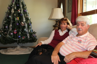 Earlene and Dick Kincaid, with their rescue dog Heidi.
