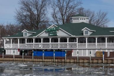 The Vermilion restaurant has a waterfront location