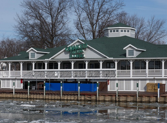The Vermilion restaurant has a waterfront location