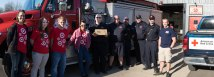 Target, Madison Fire Fighters, volunteers for the fire walk