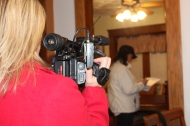 Lacey Crisp of WOIO covering the story