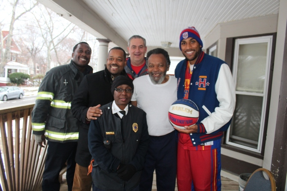 Cleveland firefighter Marco Lavender, Cleveland City Councilman T. J. Dow, Cleveland Fire Lt. Daphne Tyus, Regional Red Cross CEO Mike Parks, Cleveland resident Mikael Raheem, and Zeus McClurkin