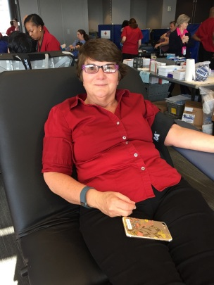 Red Cross blood donor Mary Gosling