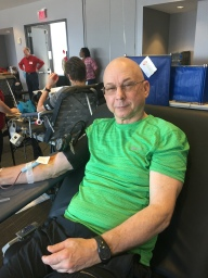 Red Cross blood donor Richard Privera