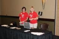 Pat with Volunteer Services Specialist Debra Kellar
