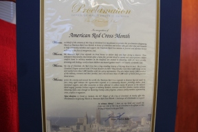 Proclamation issued by Cleveland Mayor Frank Jackson