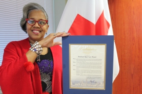 Red Cross Volunteer Vernita Whittenburg
