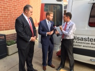 CEO Mike Parks and Greater Cleveland board member Nick Barlage speak with Fox 8 News' Todd Meany