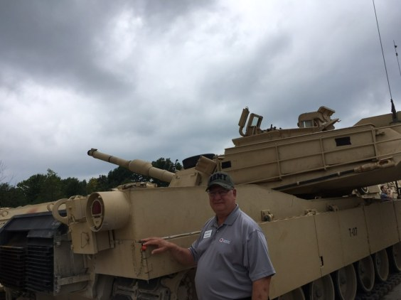 Jim Buccini- tank at 145 family day