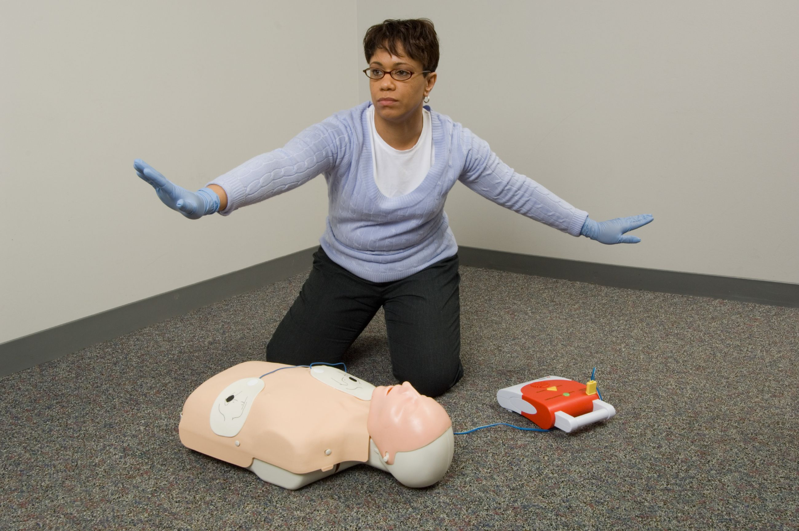 AED Trainer with participant 2